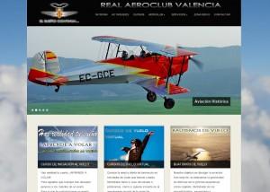 Página web Real Aeroclub Valencia