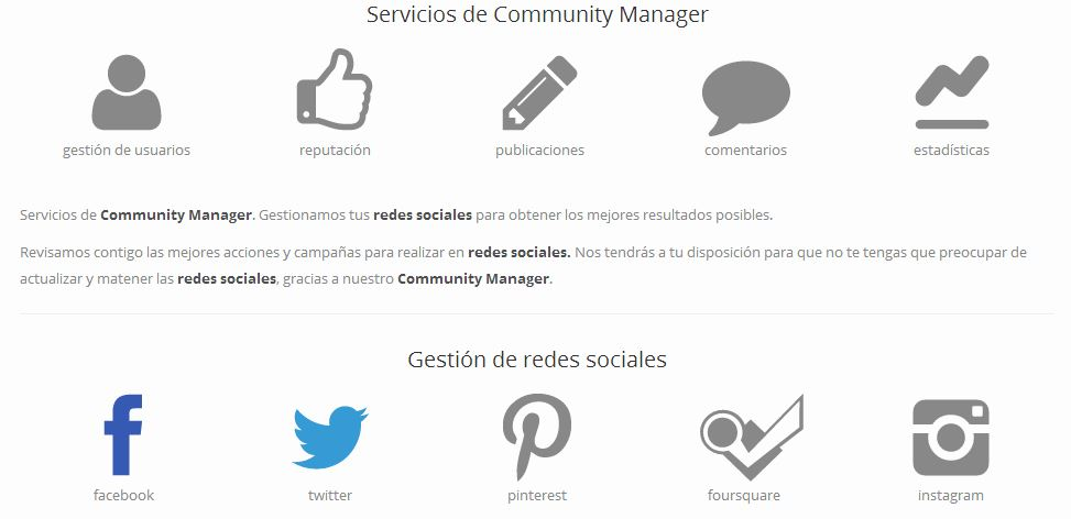 Iconos Community Manager