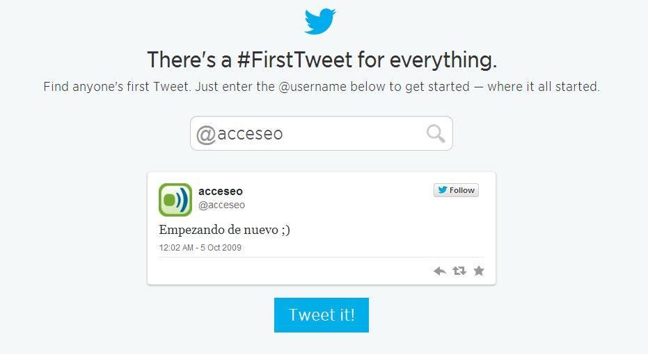 Primer tweet acceseo