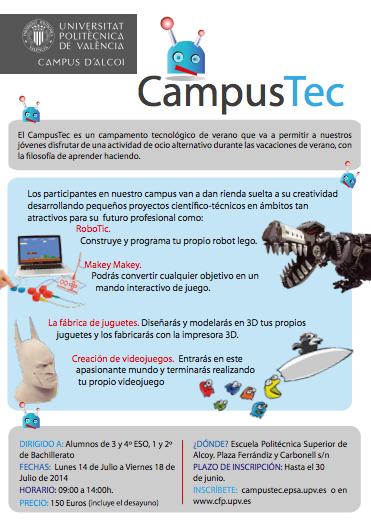 Campamento de Tecnología CampusTec UPV EPSA Alcoy
