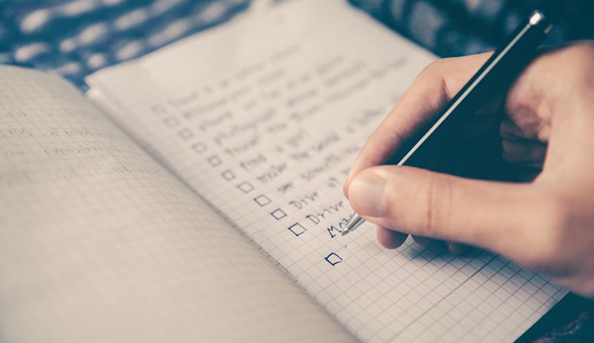 Cómo crear una checklist para iniciar un nuevo proyecto