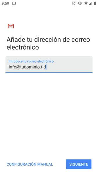 Como configurar una cuenta de correo en un dispositivo android