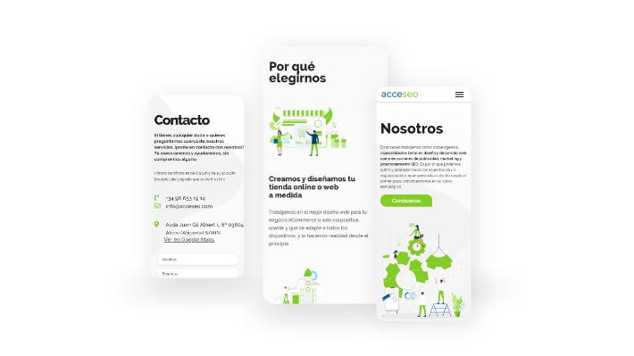 diseño adaptativo web acceseo