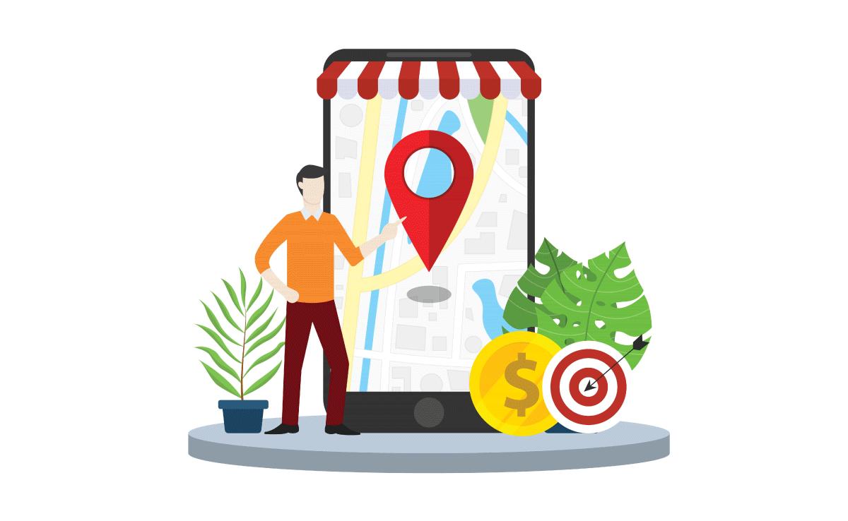 Ilustracion cliente ubicacion