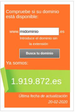 buscar dominios en dominios.es
