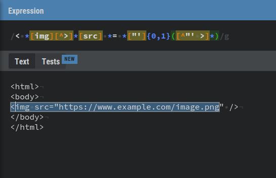 Ejemplo expresión regular para obtener las Url de imagenes sobre el html de una web