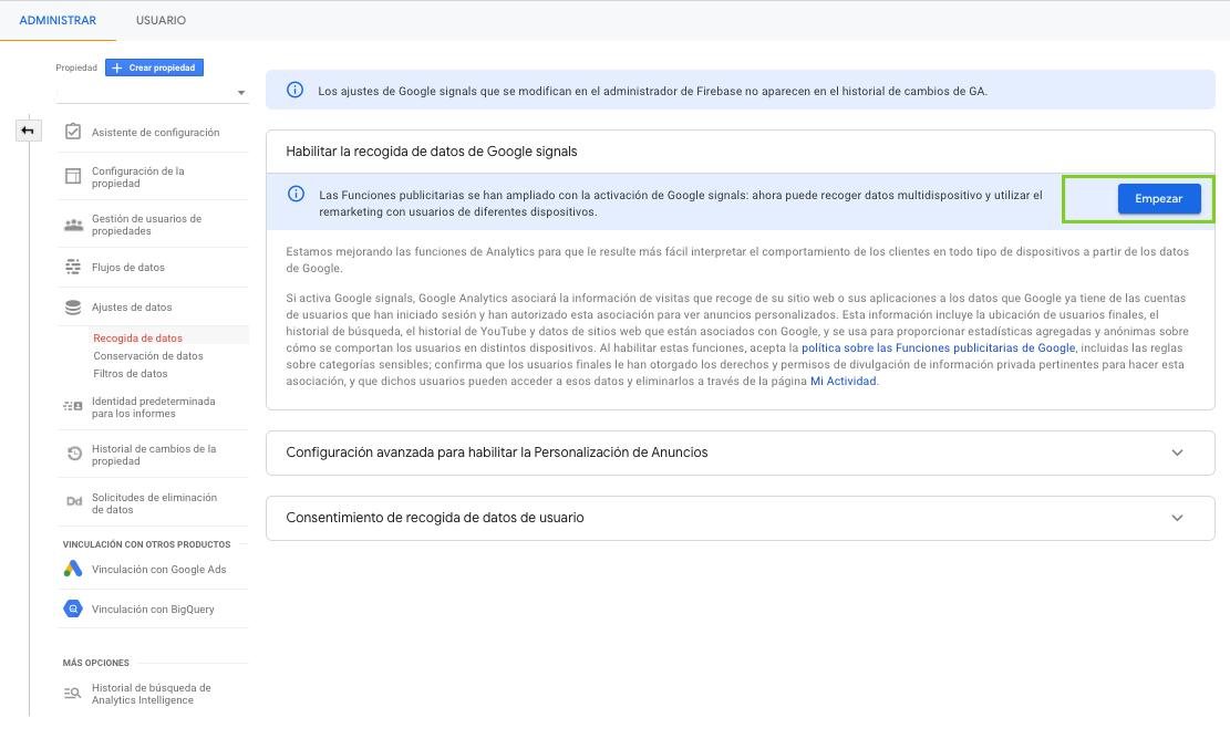 Imagen guia configurar google analytics - parte 10